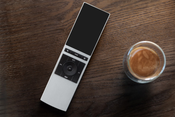 NEEO_remote-on-wooden-table
