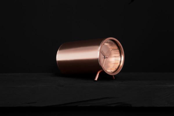 Piet Hein Eek tube_clock_copper_side_close_up