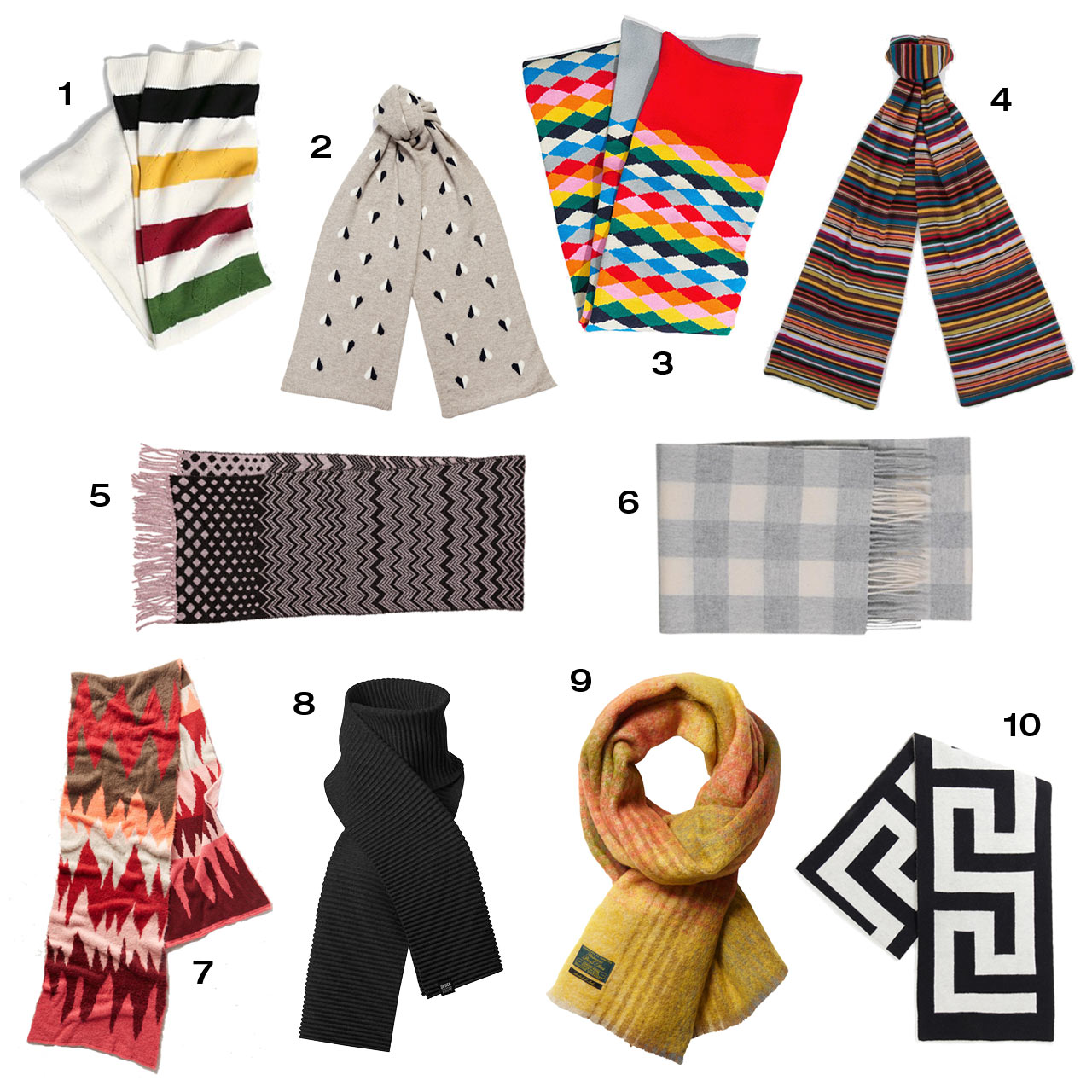 10 Modern Scarves to Keep You Warm