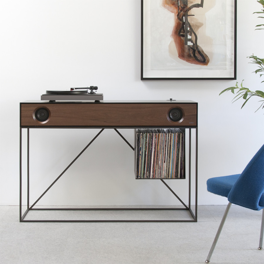 symbol audio stereo console design milk. Black Bedroom Furniture Sets. Home Design Ideas