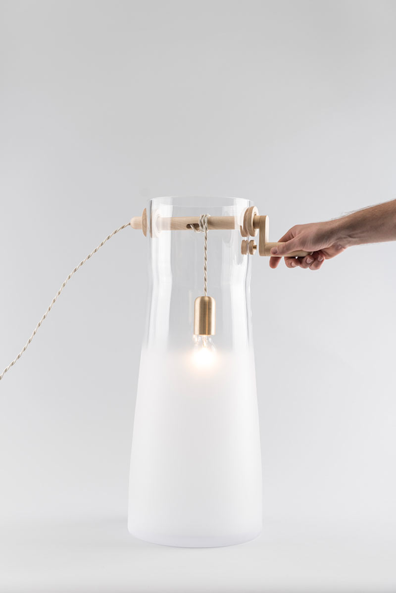 Well-Inspired Glass Lighting by Mejd Studio