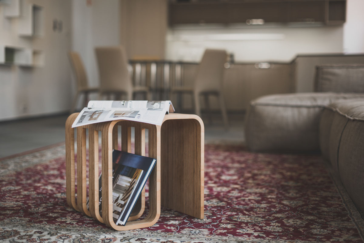 Woodieful: A Chair, Magazine Holder and Side Table in One