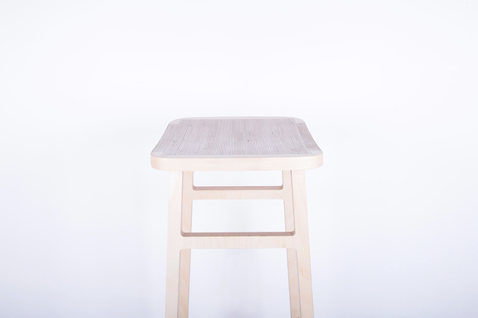 Bracket Stool by Pierre Guibert