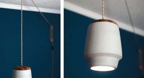 Polly:  A Pulley Pendant Light