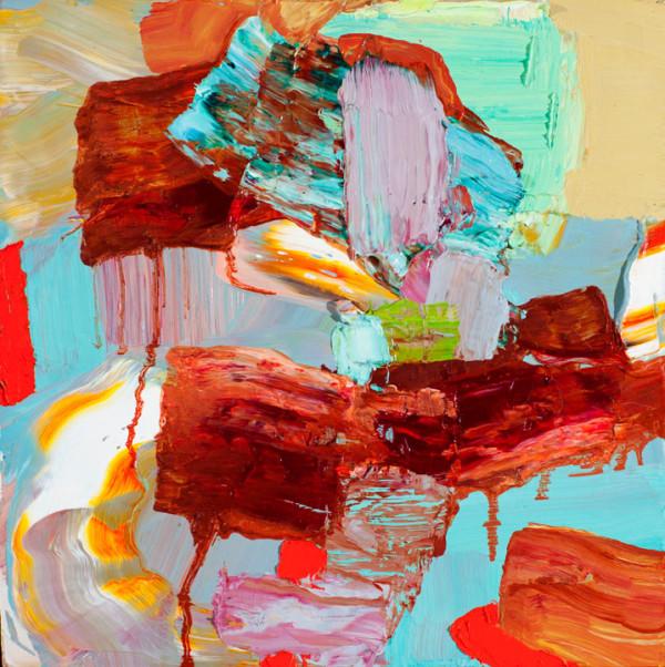 Oil on panel,10″ x 10″