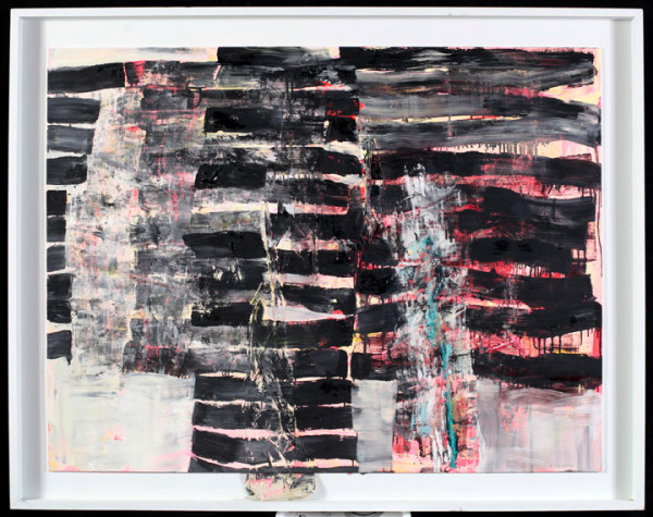 Oil and paper mounted on panel, 44″ x 56″