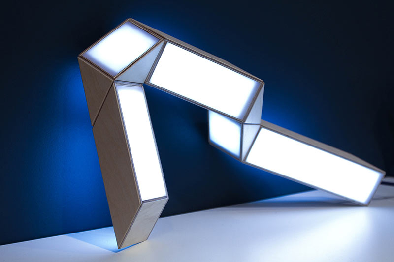 A Lamp Inspired by a 1970's Puzzle Toy
