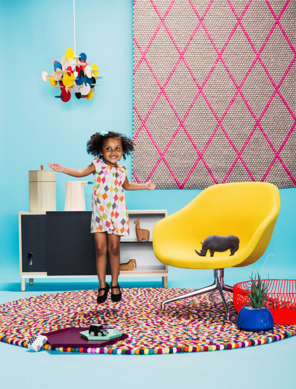 Owners Rose and Andy's 4-year-old girl, Nina jumps for joy for modern design!