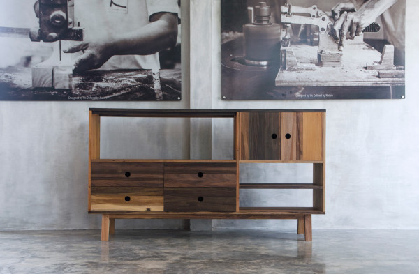 Modern Furniture Made From A Mix Of Reclaimed Woods Design Milk - Modern furniture brooklyn