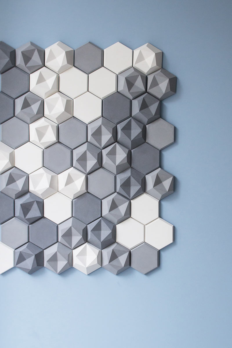 Edgy: Hexagonal Wall Tiles for KAZA Concrete