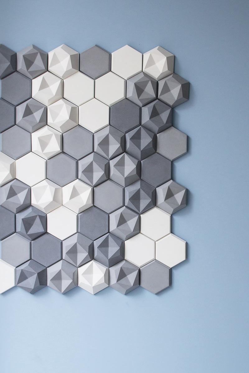 Edgy: Hexagonal Wall Tiles for KAZA Concrete ... & Edgy: Hexagonal Wall Tiles for KAZA Concrete - Design Milk