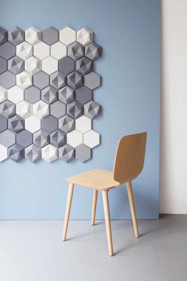 Edgy: Hexagonal Wall Tiles for KAZA Concrete - Design Milk