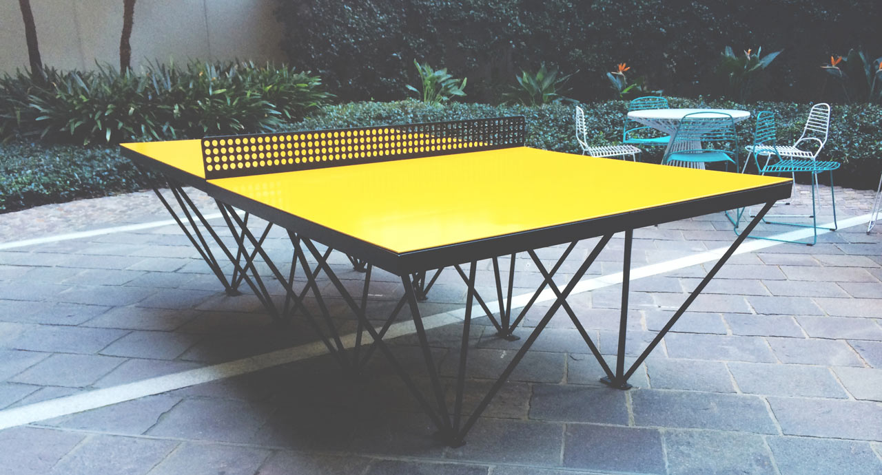 an outdoor ping pong table for design lovers design milk. Black Bedroom Furniture Sets. Home Design Ideas