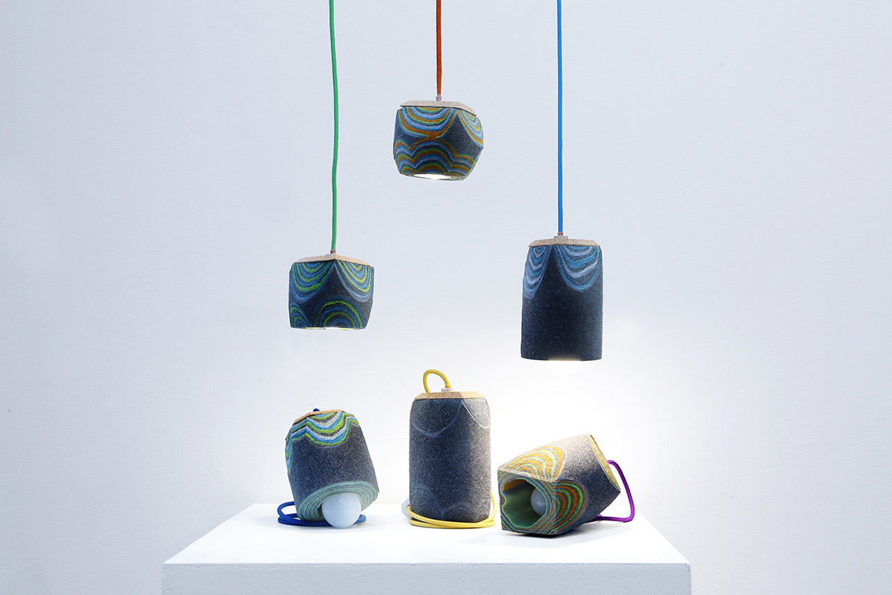 Lighting Made From Layered Felt