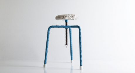 Marble Pebbled Stools That Bring Beach Life Indoors