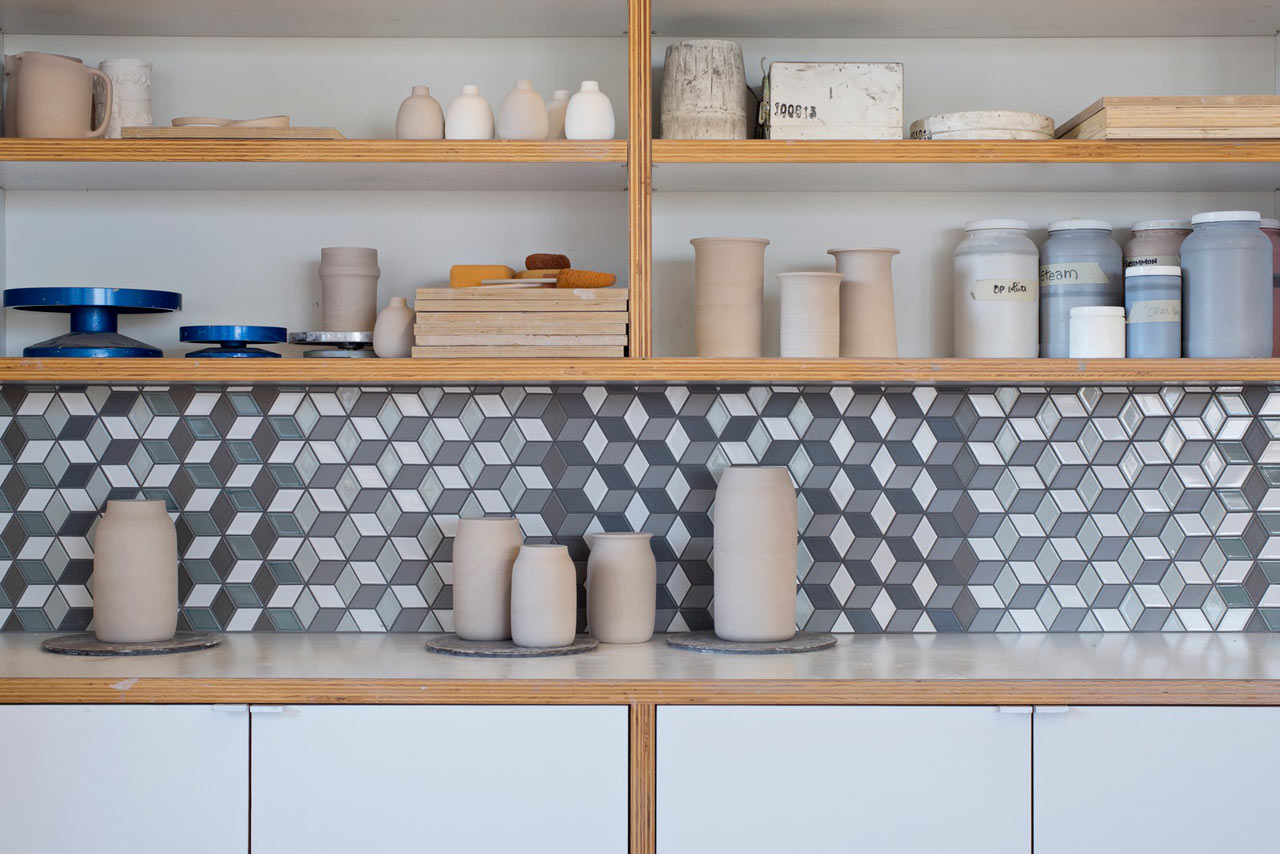 Heath ceramics launches mural a multidimensional pattern for Heath tile