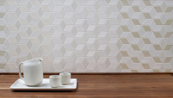 Heath ceramics launches mural a multidimensional pattern for Heath tile