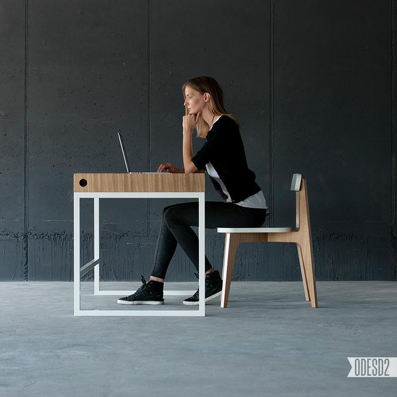 O1 Desk by Ukrainian Design Firm ODESD2 - Design Milk
