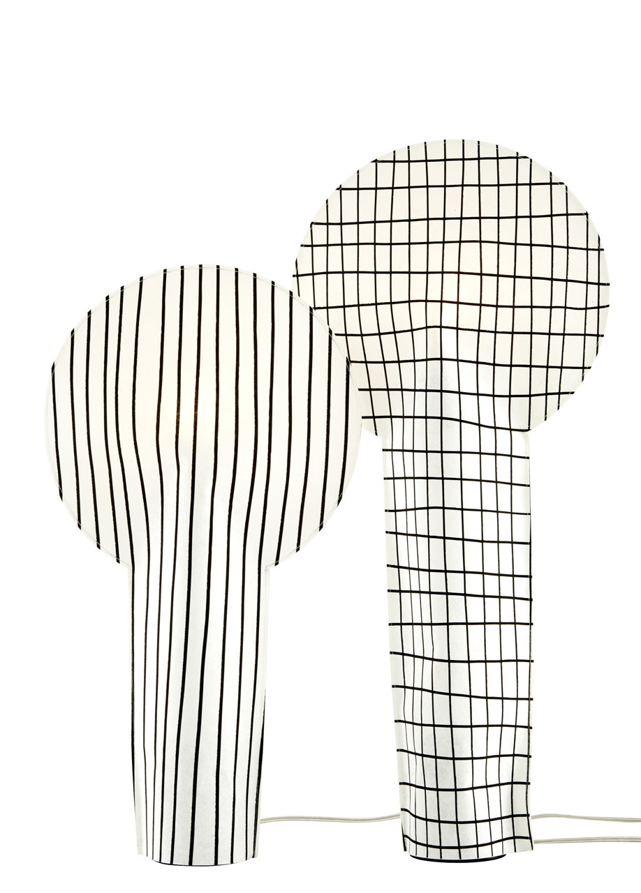 graphic paper lamps from ligne roset r aumur design milk. Black Bedroom Furniture Sets. Home Design Ideas