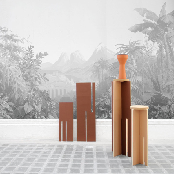Partir-du-Gueridon-de-Cedric-Canaud-4-TERRA-COTTA-8234  Side Tables Made from Just Two Panels and a Top Partir du Gueridon de Cedric Canaud 4 TERRA COTTA 8234 600x600