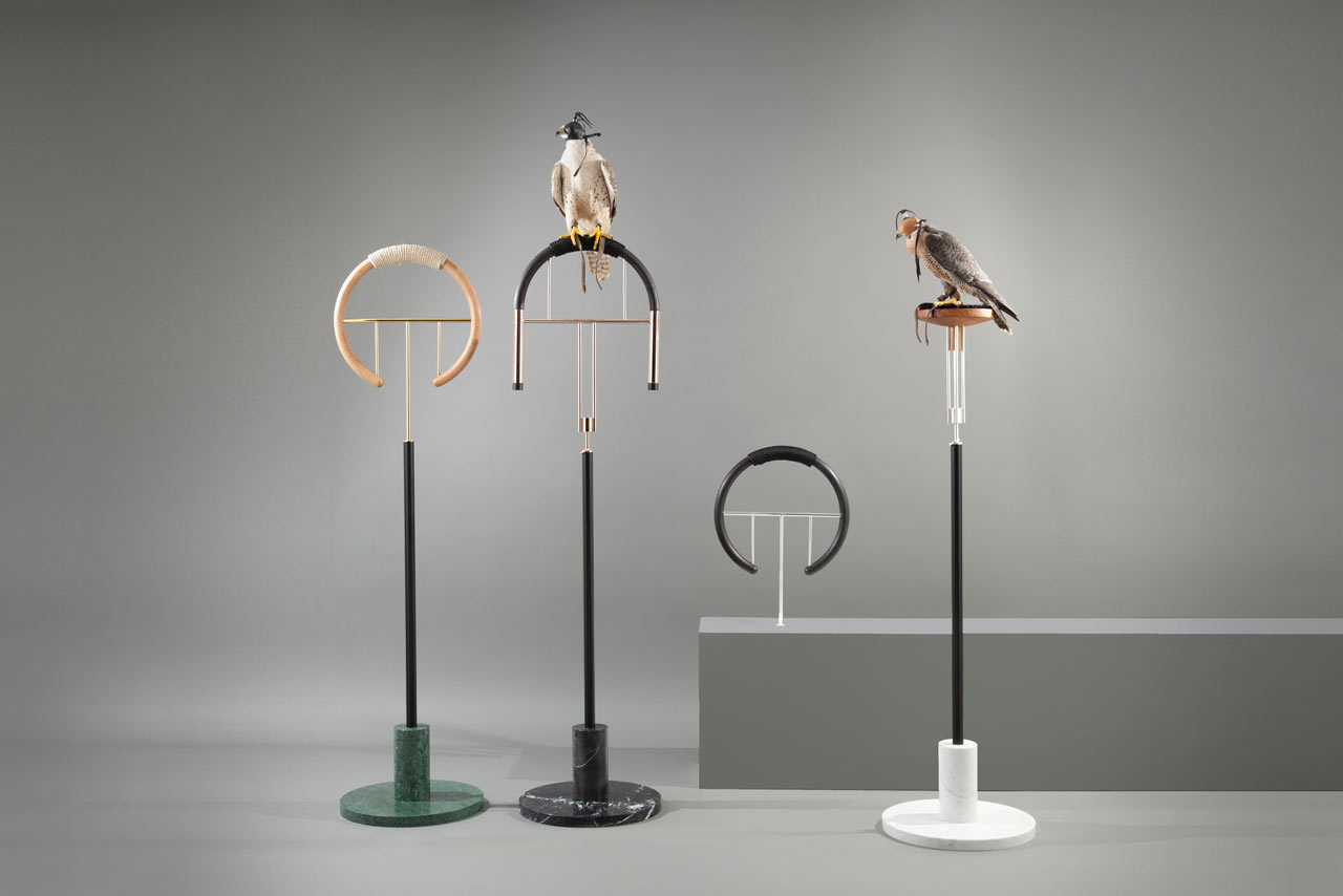 An Installation of Modern Falcon Perches