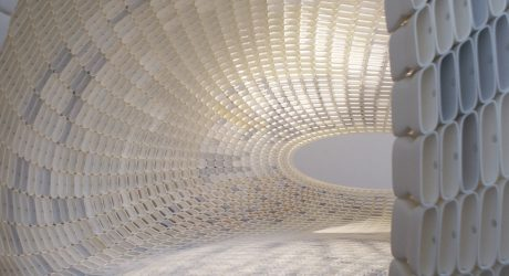 An Egg-Shaped Pavilion Made of 4,760 3D Printed Pieces