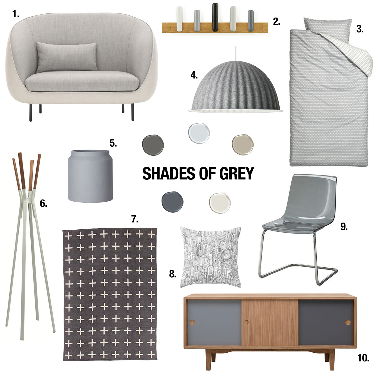 50 Shades of Grey, OK 10, for Your Home - Design Milk