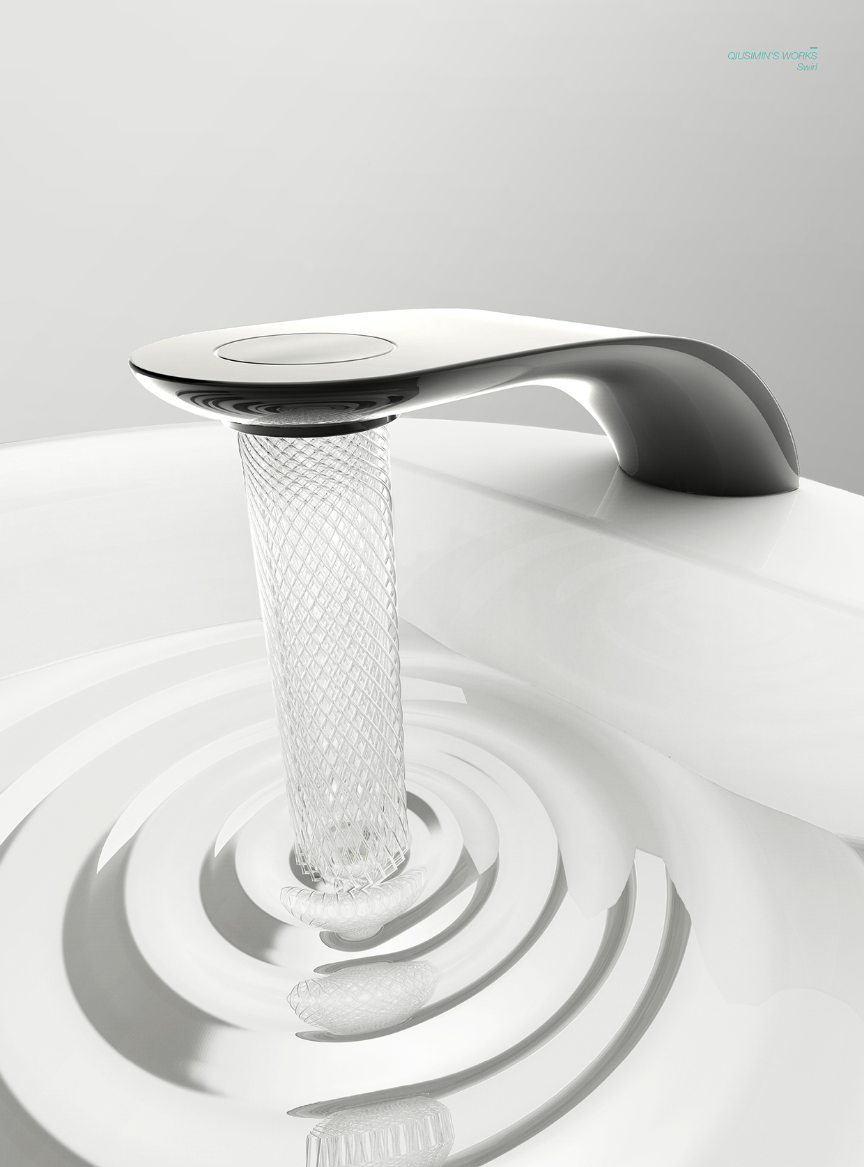Swirl Is the Most Beautiful Sink Faucet