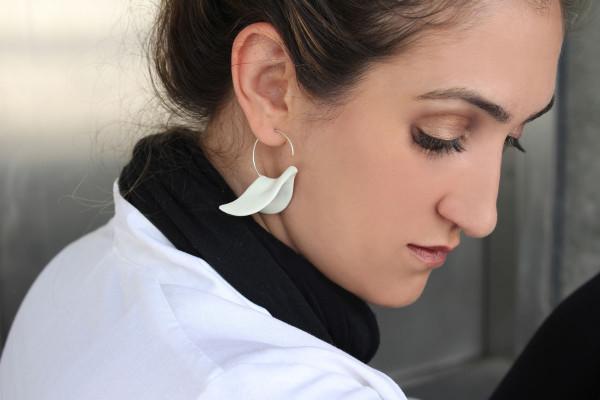 White Dove earring