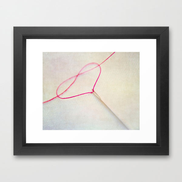heart-photography-thread-framed-print