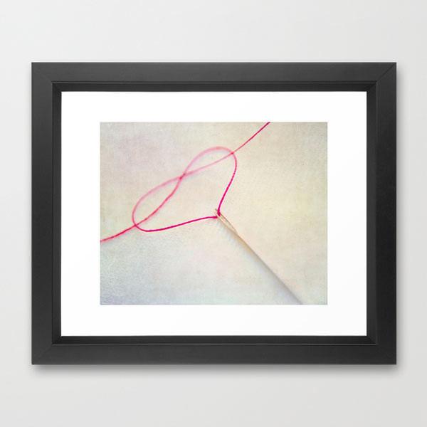 heart-photography-thread-framed-print