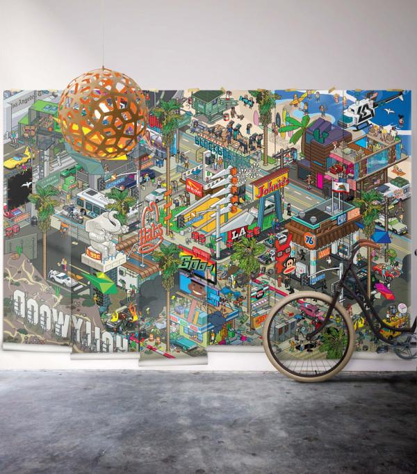 eBoy's 8-bit mural of LA