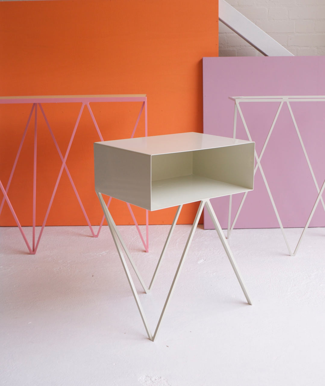 New modern minimalist furniture made of steel