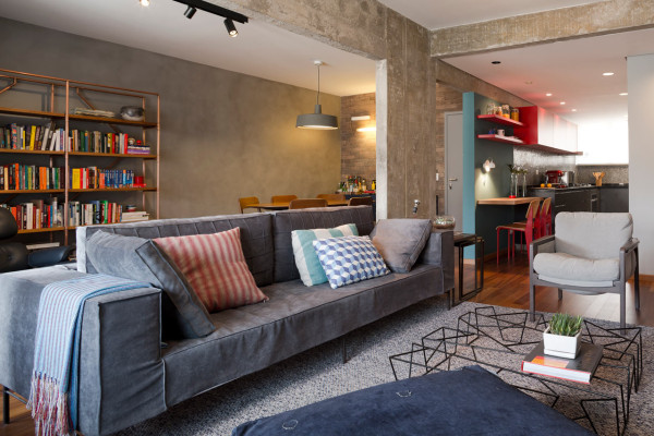 A São Paulo Apartment Decked Out in Shades of Grey