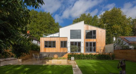 An Environmentally-Friendly Wood-Clad UK Home