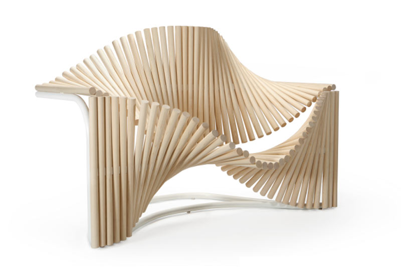 A Curvy Chair for Best-Selling Writer Paulo Coelho