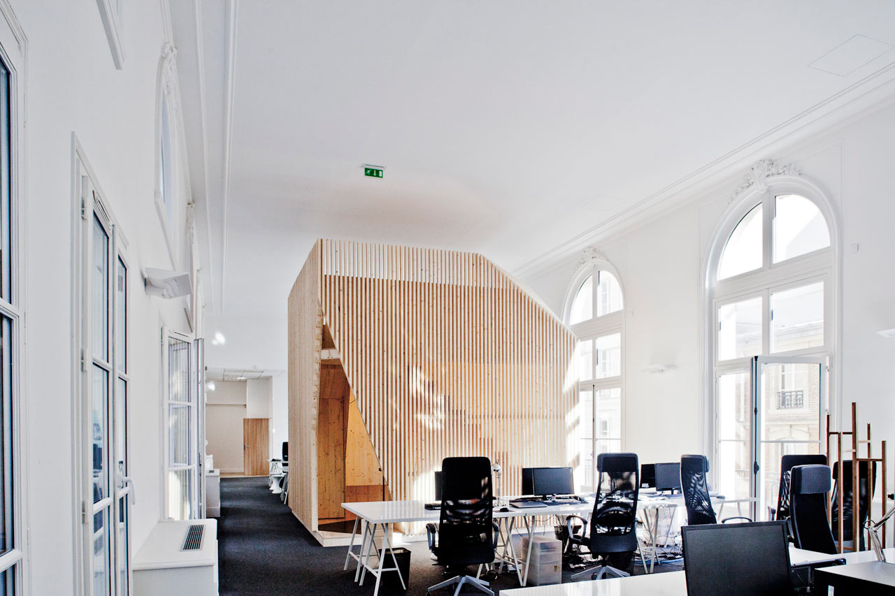 A modern office takes over a classic building design milk for Classic building design
