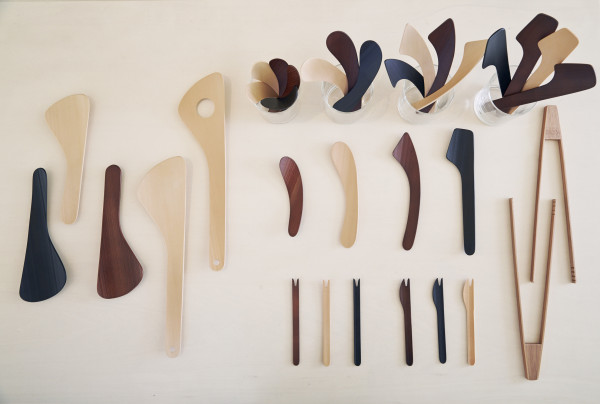 If not for my limited luggage capacity during the trip, it would have been easy to imagine replacing much of our kitchen tools with the Calder-esque spoons and cutlery on display.