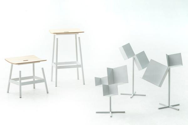 Moroso-Milan-2015-4-Float-stool-Corners-3-sided-cube-box-Nendo