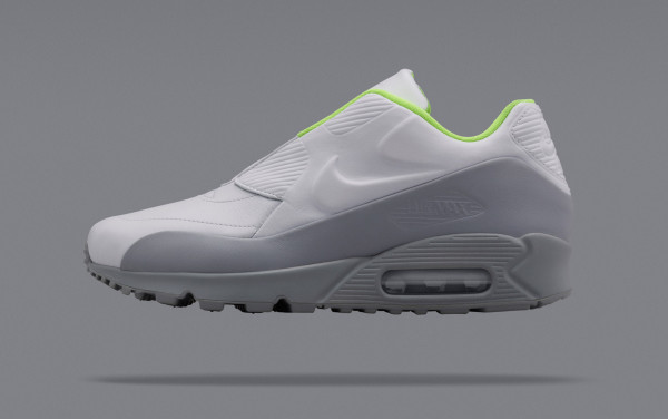The special edition NikeLab Air Max is available in shades of obsidian/black with volt lining, volt/obsidian with volt lining, and wolf gray with volt lining.