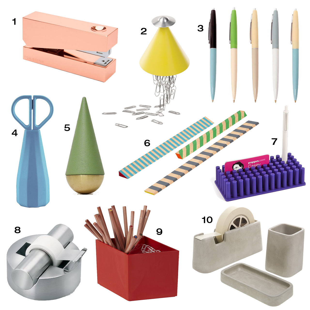 10 modern office supplies to up your desk game design milk for Modern design accessories