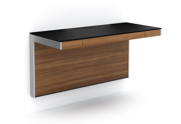 Wall-Mounted Desk for Smaller Spaces - Design Milk