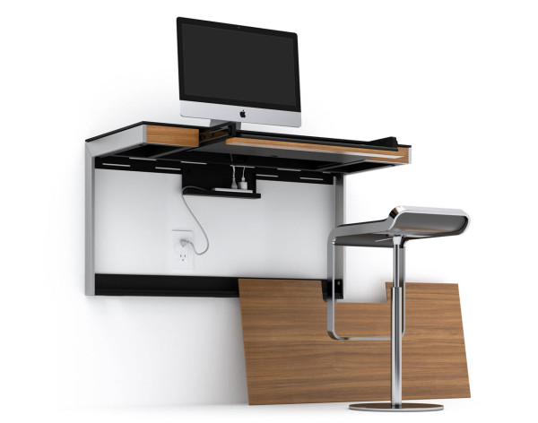 A Wall Mounted Desk For Smaller Spaces Design Milk