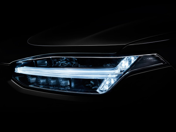 The Volvo XC90's LED headlamp array is shaped in honor of the Norse thunder god's weapon of choice, the hammer.