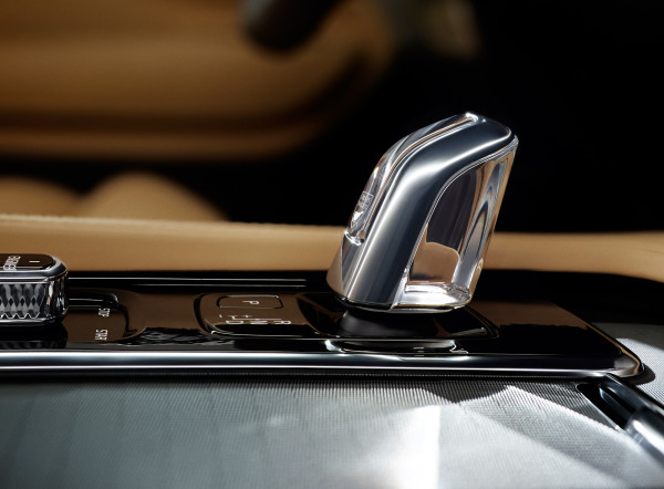 The XC90's gearshift lever is made of crystal made by Swedish glassmaker, Orrefors. This is about as ostentatious as the Swedes get!