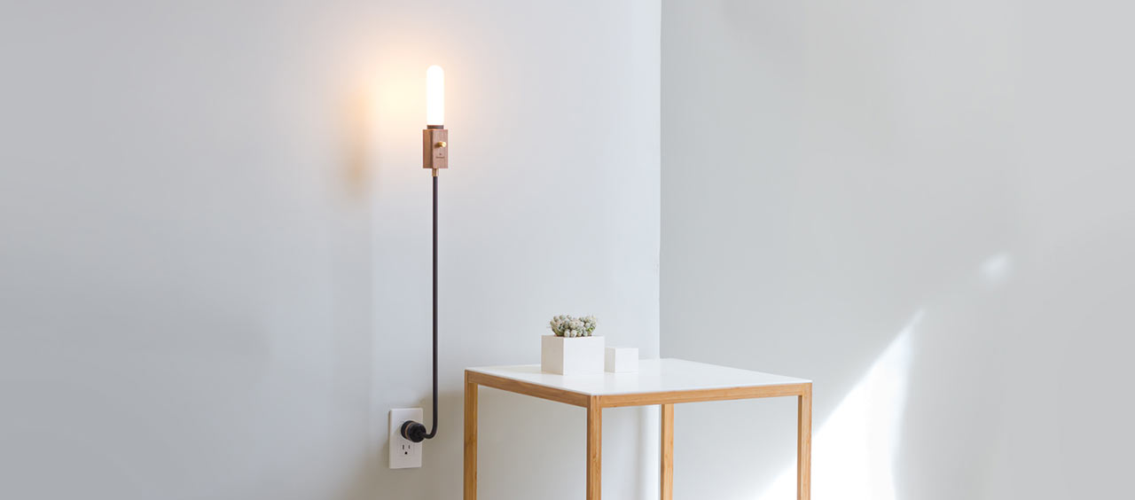Wald plug lamp by feltmark design milk wald plug lamp by feltmark mozeypictures Image collections