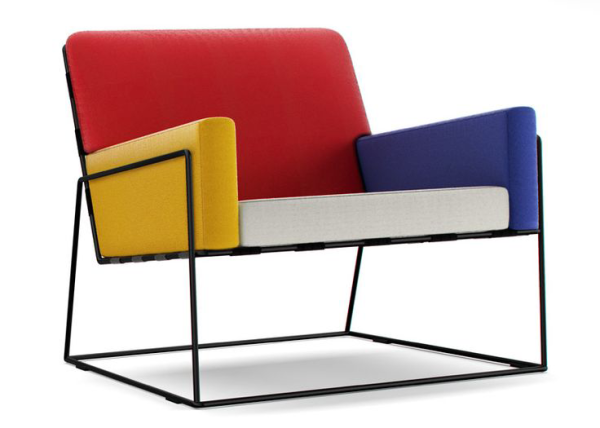 Design Crossover Piet Mondrian Design Milk : Color Block Chair 600x428 from design-milk.com size 600 x 428 png 200kB