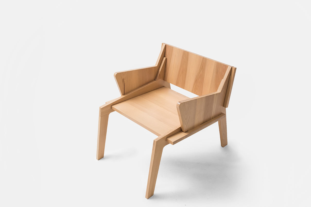 Handmade wooden furniture by collaptes design milk for Wooden furniture