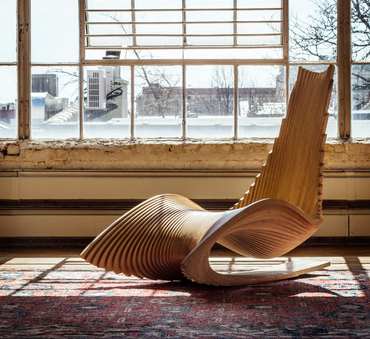 DIWANI CHAIR: A Sculptural Rocker by AE Superlab