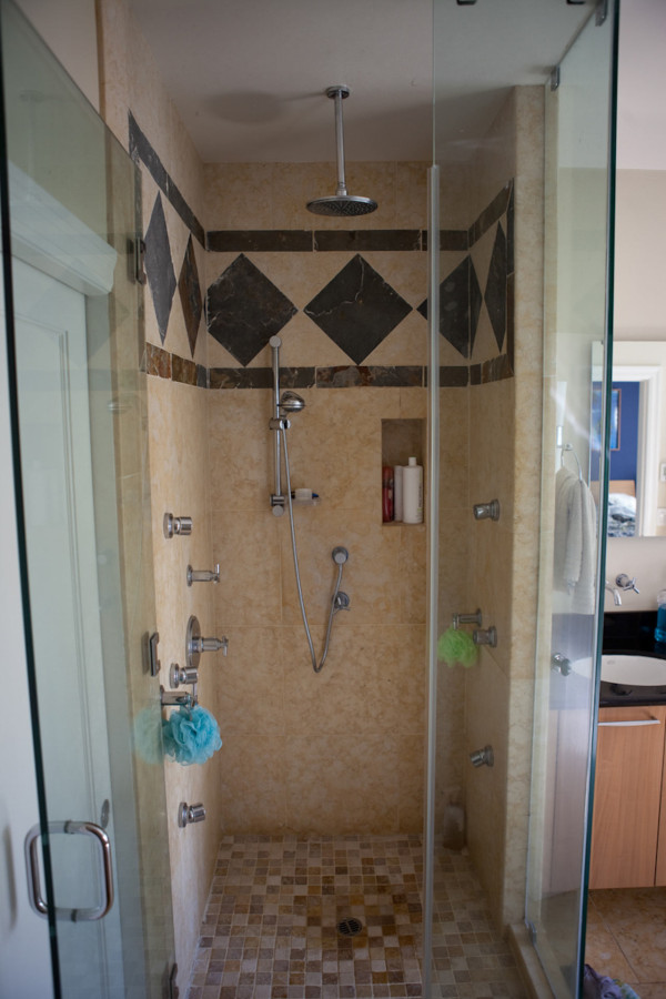 Before: shower